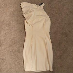 Lulus high neck shoulder flap dress